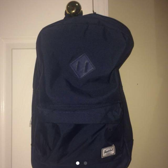 Herschel backpack- navy blue