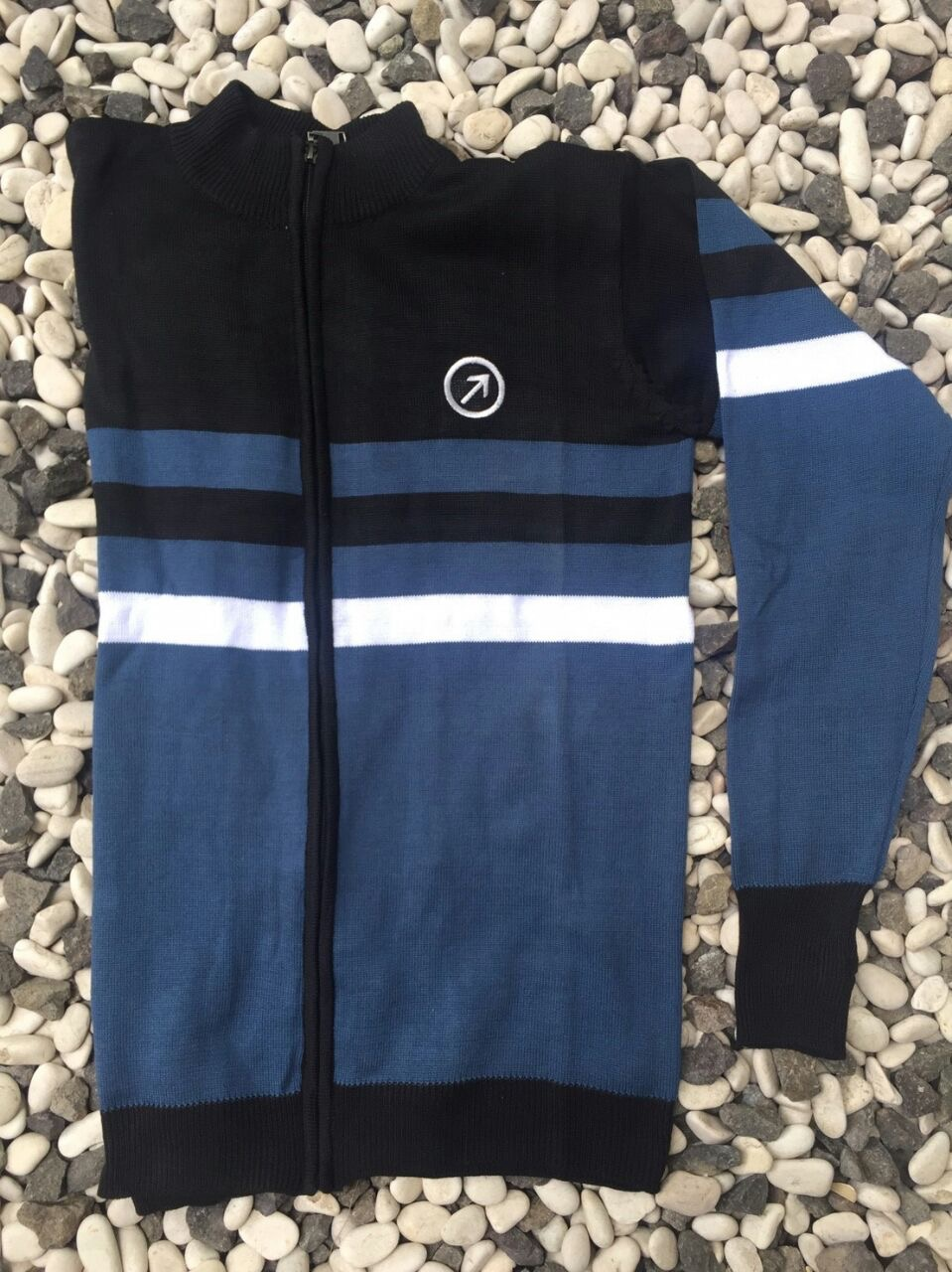 Jaket Sweater Black Blue