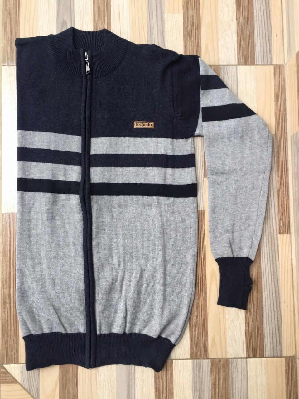 Jaket Sweater Black-Grey