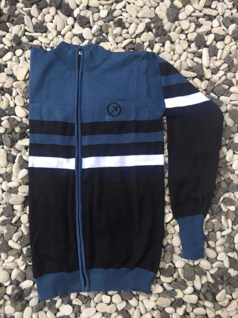 Jaket Sweater Blue Black