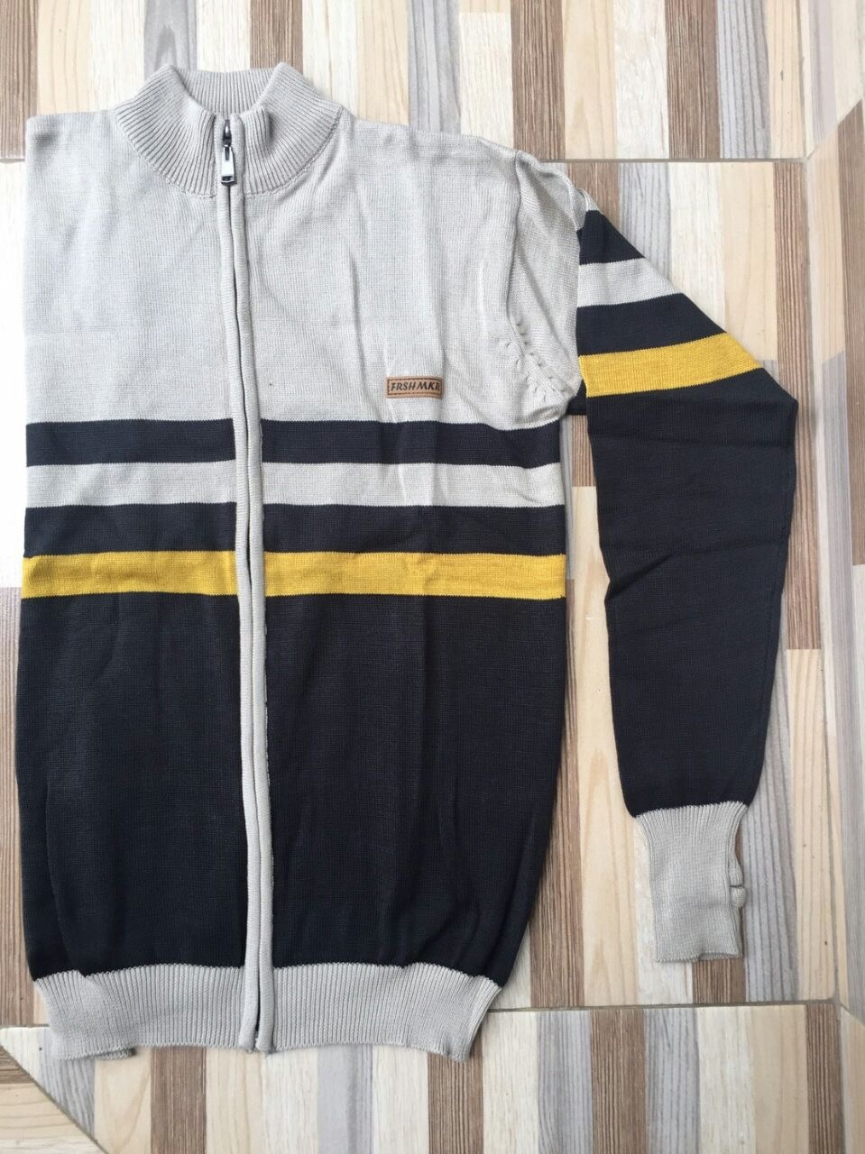 Jaket Sweater Grey-Black