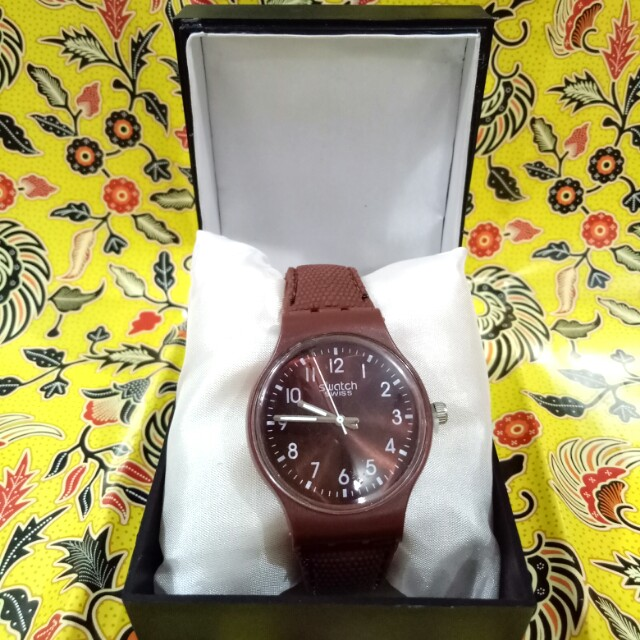Jam Tangan Swatch Swiss Brown