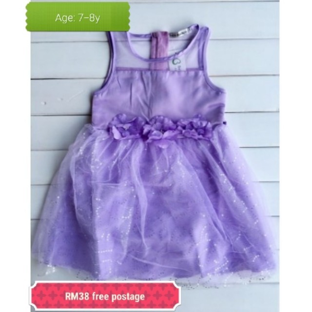 Kids girl purple princess dress