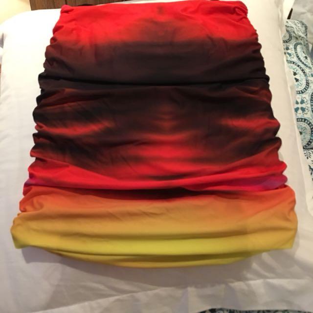 Kookai multi coloured skirt Sz 2