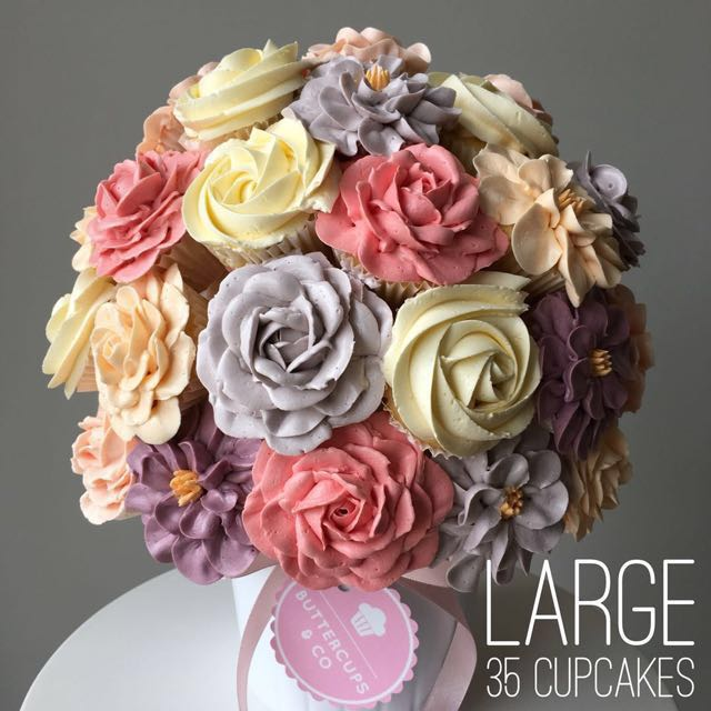 Large Cupcake Flower Bouquet - Flowers Healthy
