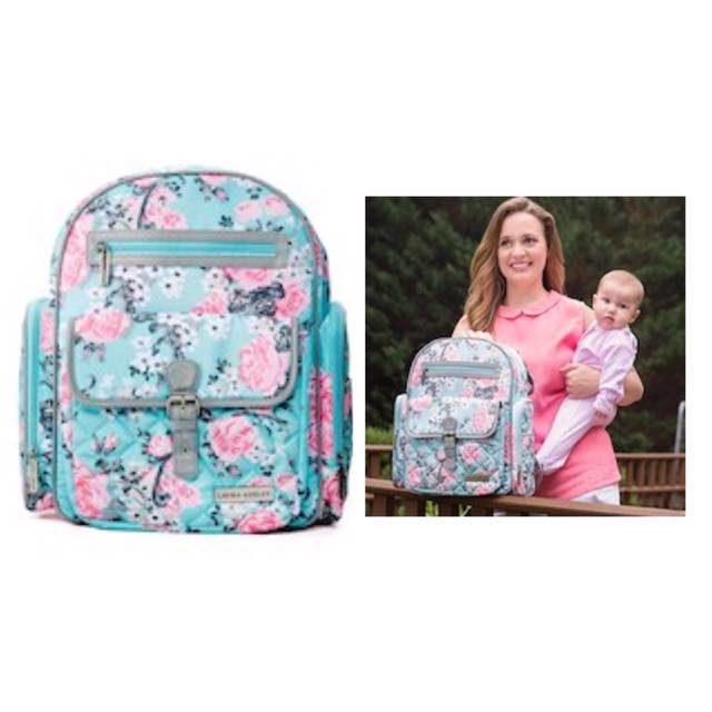 Laura Ashley 4-in-1 Rose Floral Dome Backpack Diaper Bag - Teal ... 31893555ce5f6