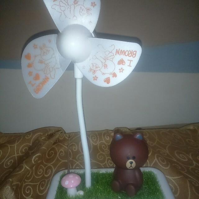 Line熊大電風扇