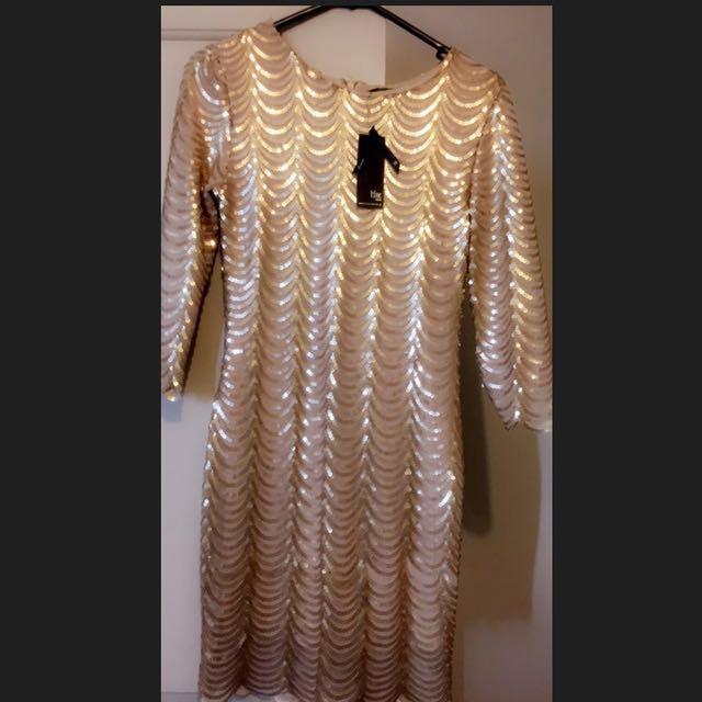London brand Gold Dress