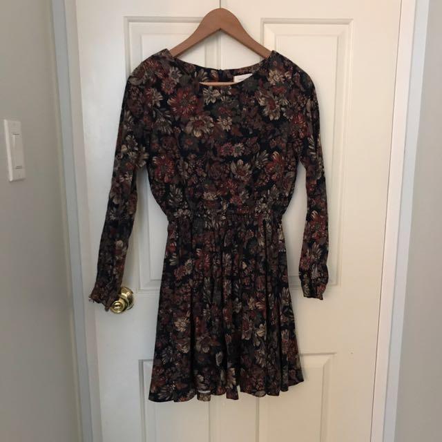 Long sleeved floral dress