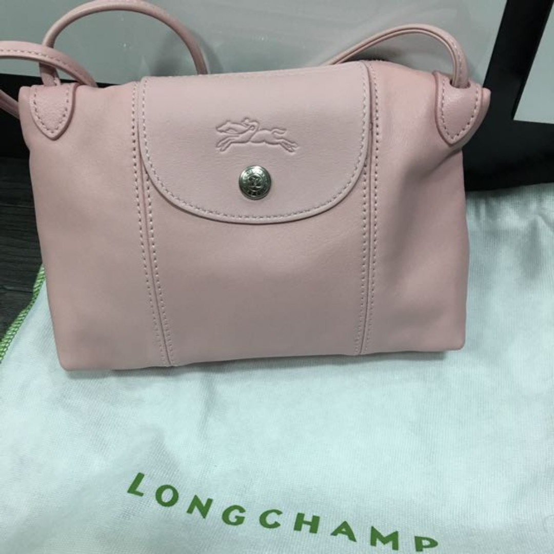 cc61cc560bb3 Longchamp Le Pliage Cuir Crossbody Bag