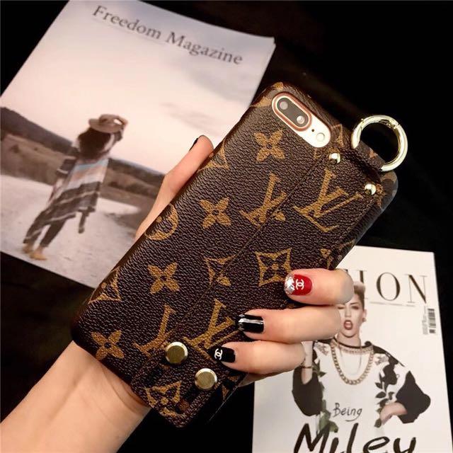 LV時尚手腕帶手機殼iPhone6sPlus 7Plus OPPO R11 Plu R9s三星S8Plus保護殼s