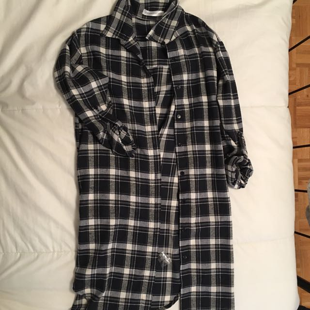 M boutique plaid dress (NEVER WORN)
