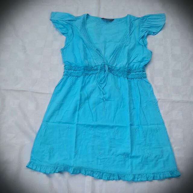 Marks and spencer blue beach dress
