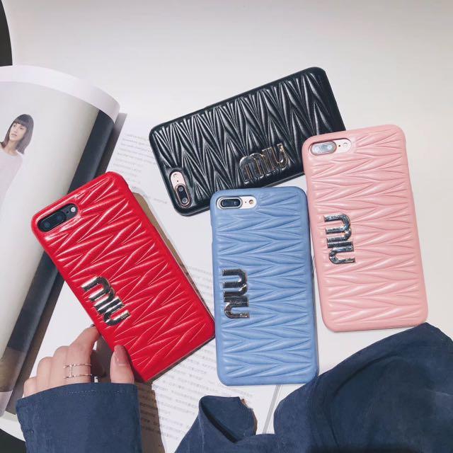Miumiu design PU leather hard case