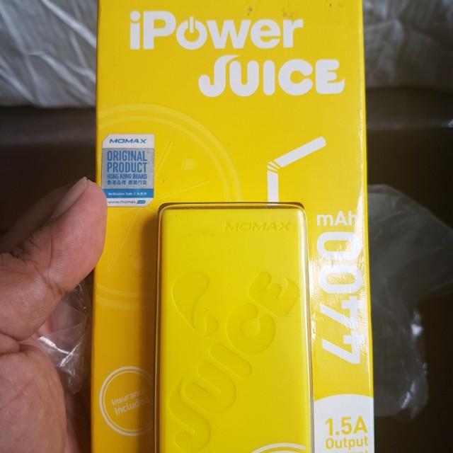 Momax iPowerjuice 4400 maH powerbank