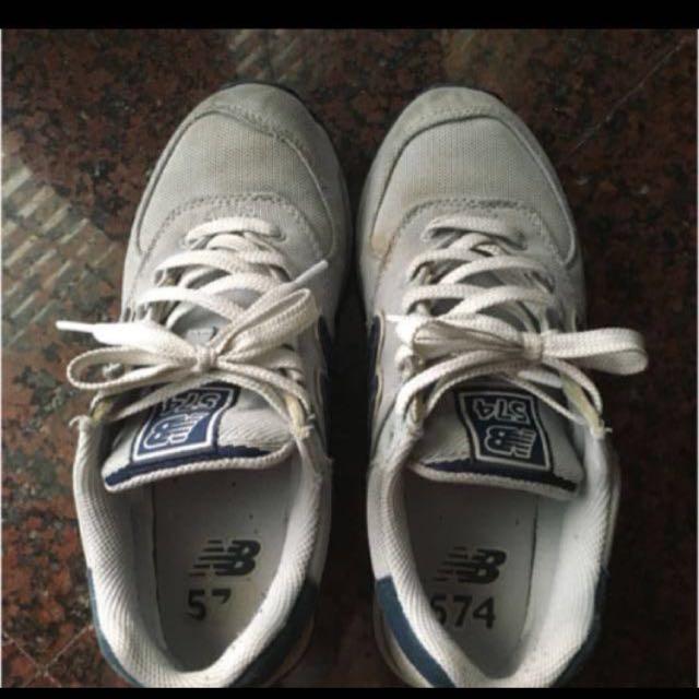 降價!new balance 574 灰色慢跑鞋 布鞋