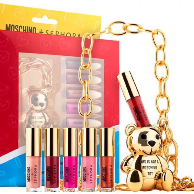 [NEW] Moschino X Sephora Lip Gloss/Necklace Limited Edition