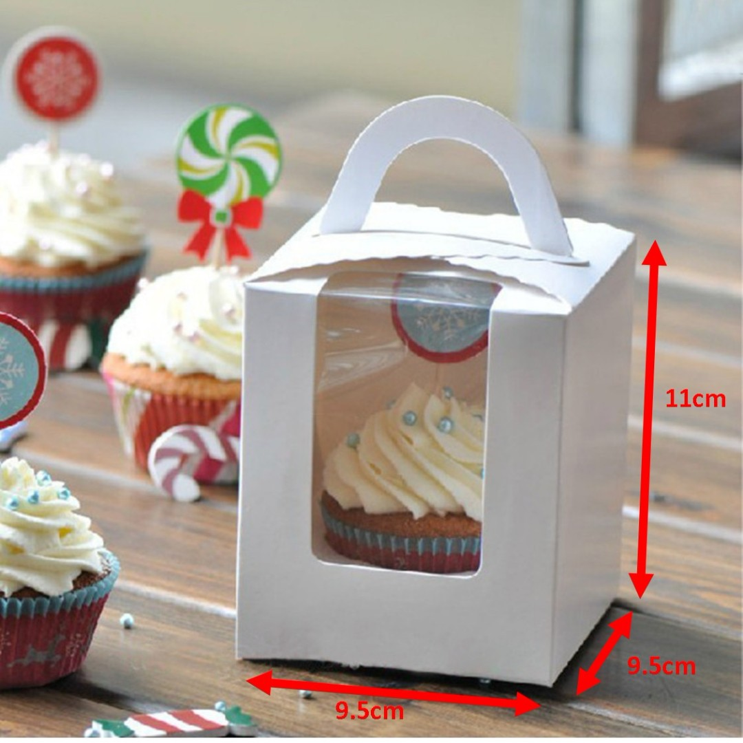 **New!**Elegant display White Cupcake Boxes with Inserts 9.5x9.5cm **Sale!**
