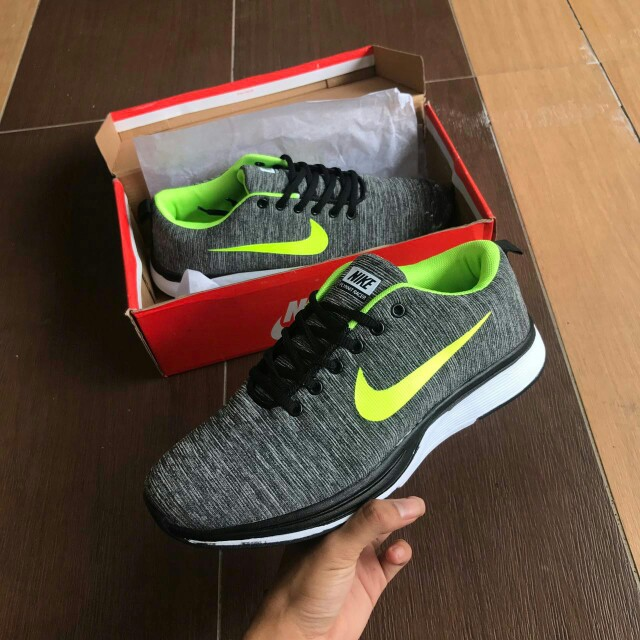 0c474f7e07a Nike Flyknit Grey Yellow shoes   sneakers