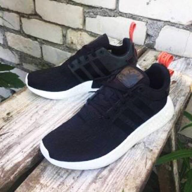 NMD R2 Sneakers Size UK4 / EU36 in black and orange