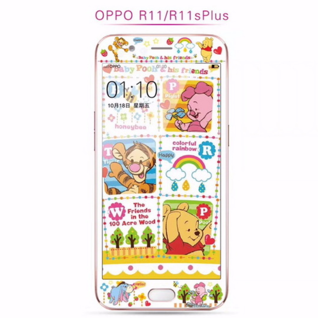 Oppo r11 cartoon winnie the pooh tempered glass screen protector photo photo photo voltagebd Gallery