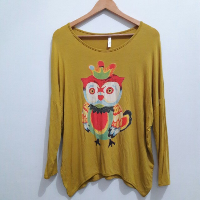Owl Mustard long sleeves