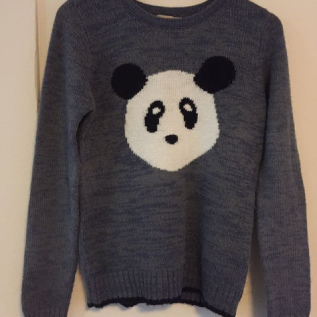 Panda wool jumper