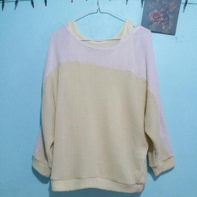Pastel Sweater With Inner