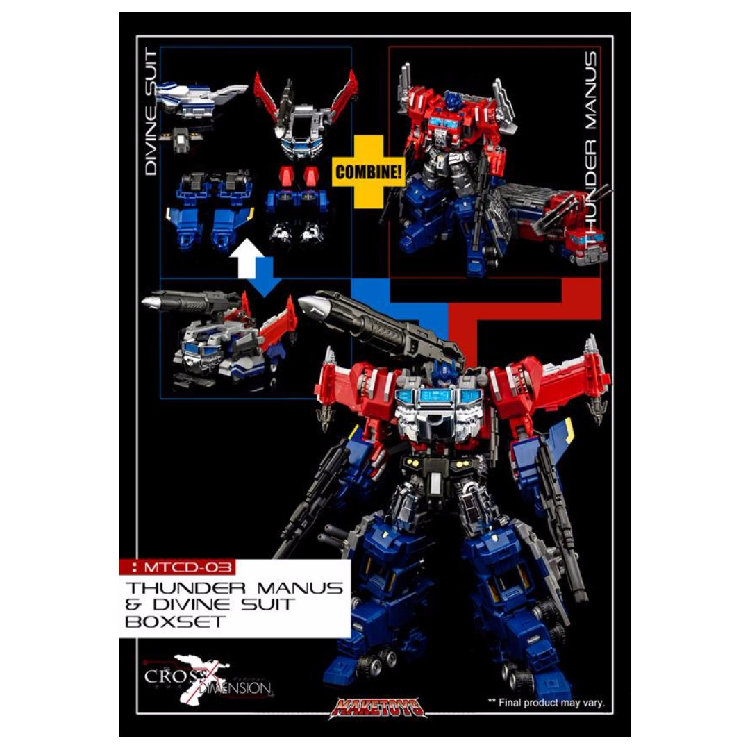 PO: Maketoys - Cross Demension Series MTCD-03 - Thunder Manus & Divine Suit  Boxset