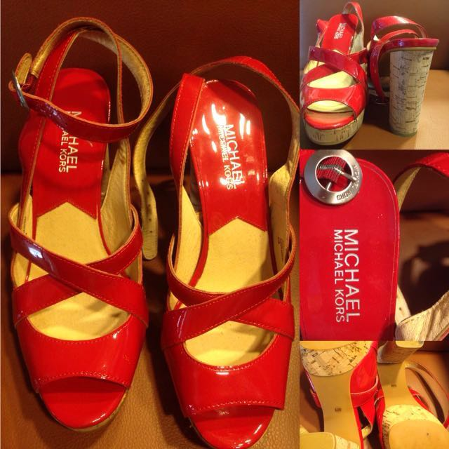 Pre-loved Authentic Michael Kors Red Sandals