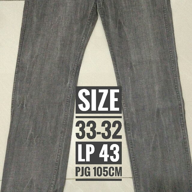 [Preloved Like New!!] Celana jeans Grey kereen