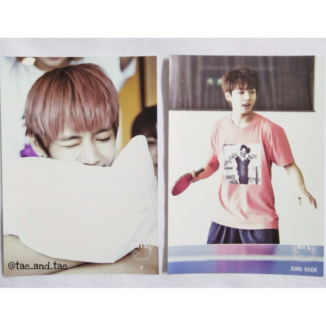 [RARE] BTS Official 1st Muster Postcards - V & Jung Kook