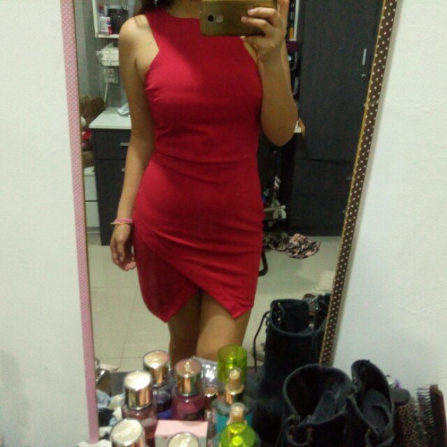Red flap dress
