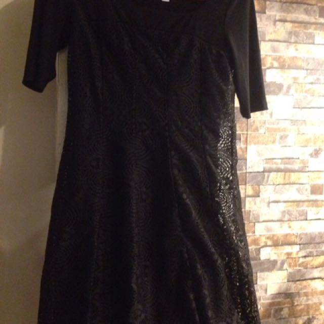 REPRICED!!! Black Lace Dress