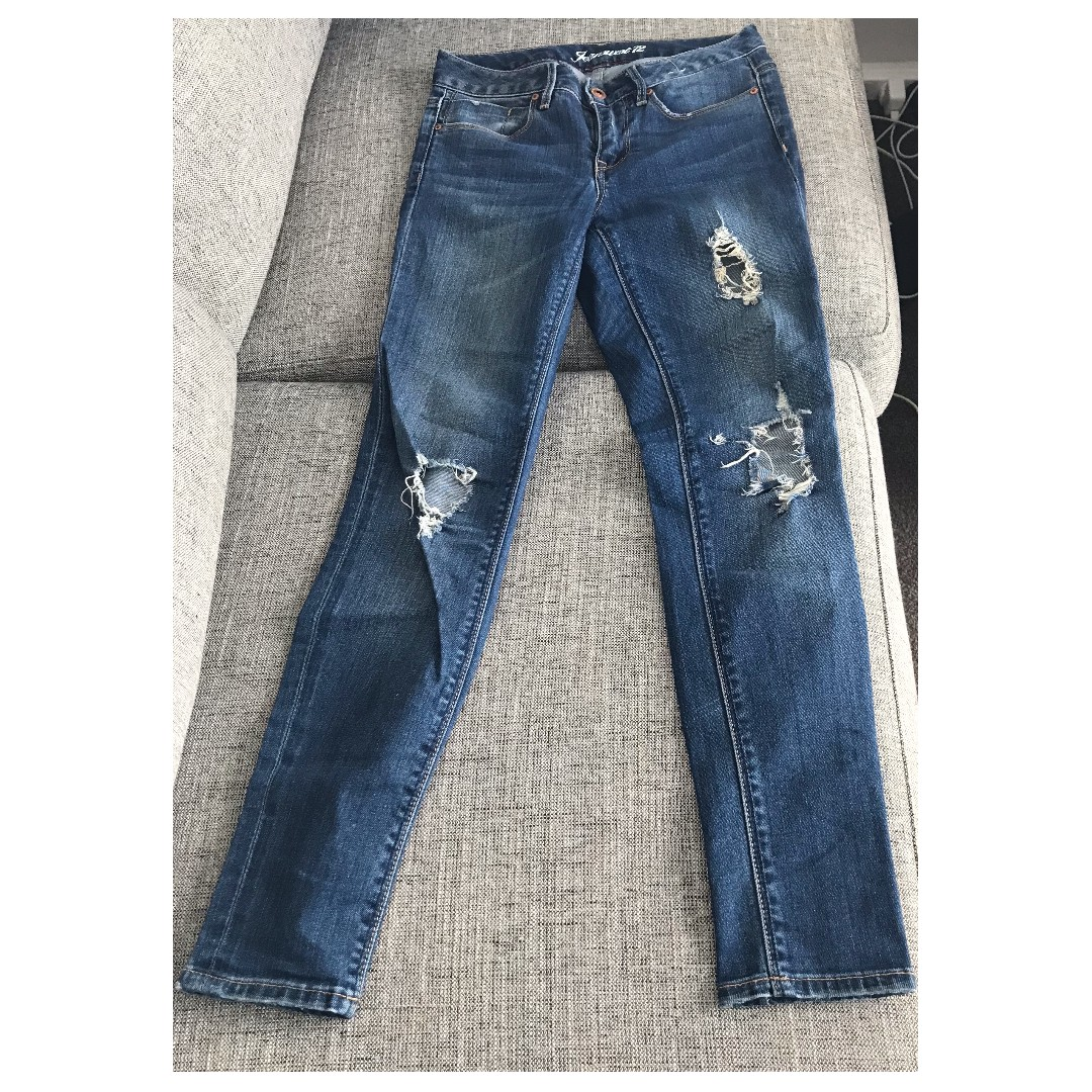 Ripped Blue Size 6 Jeans