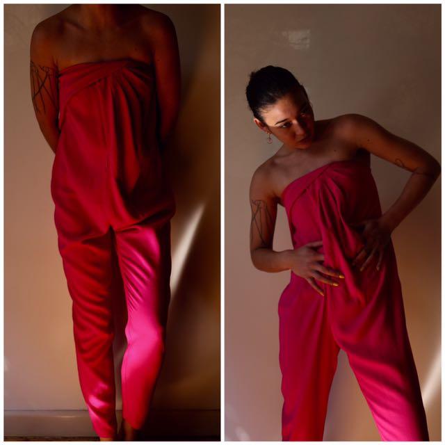 SHEIKE pink draped jumpsuit