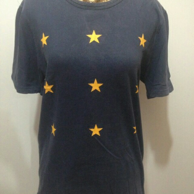 Star T Shirt / Kaos Navy corak