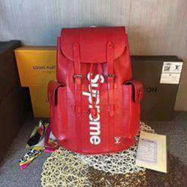 Supreme x Louis Vuitton Backpack b1c23a2208042
