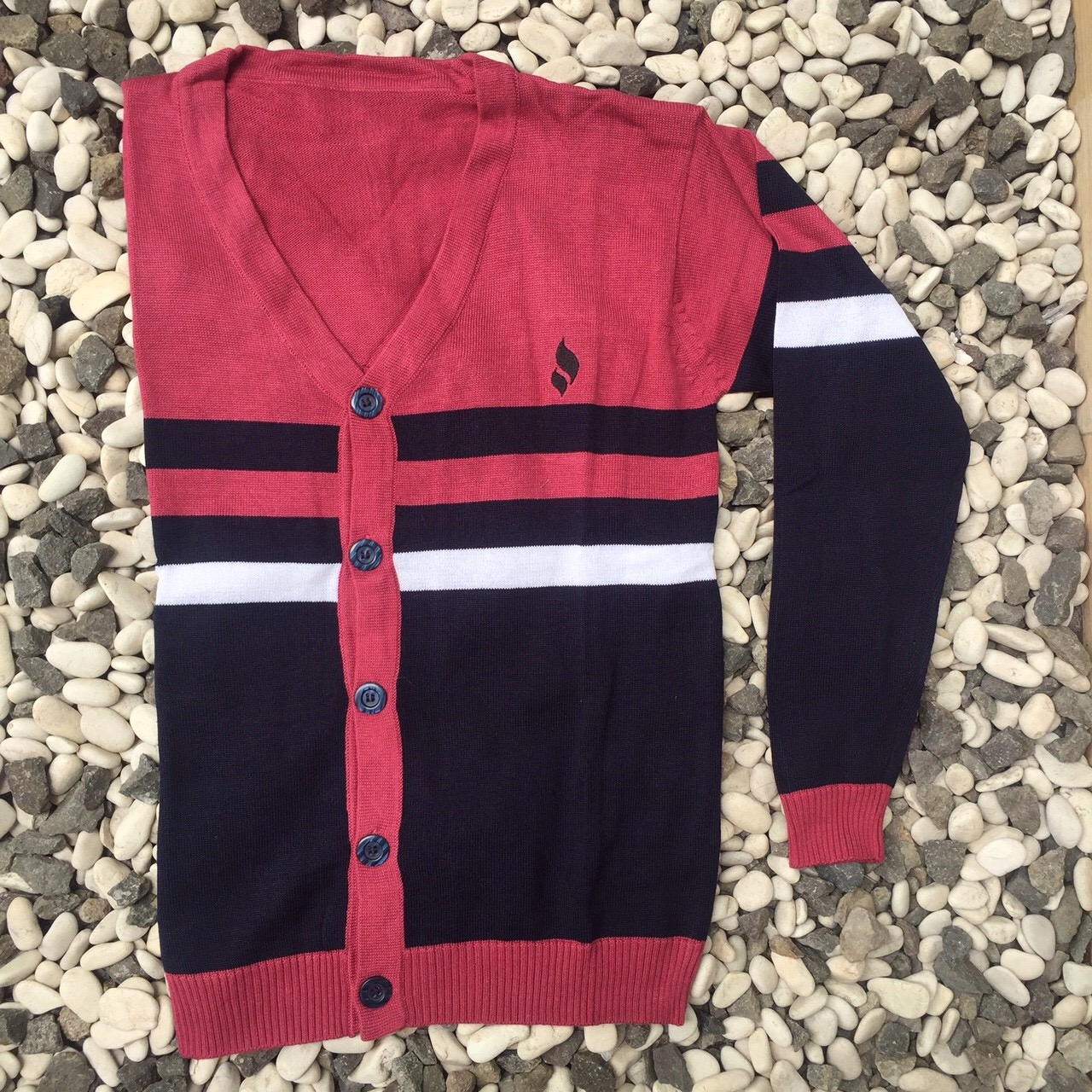Sweater Cardigan Solar Red
