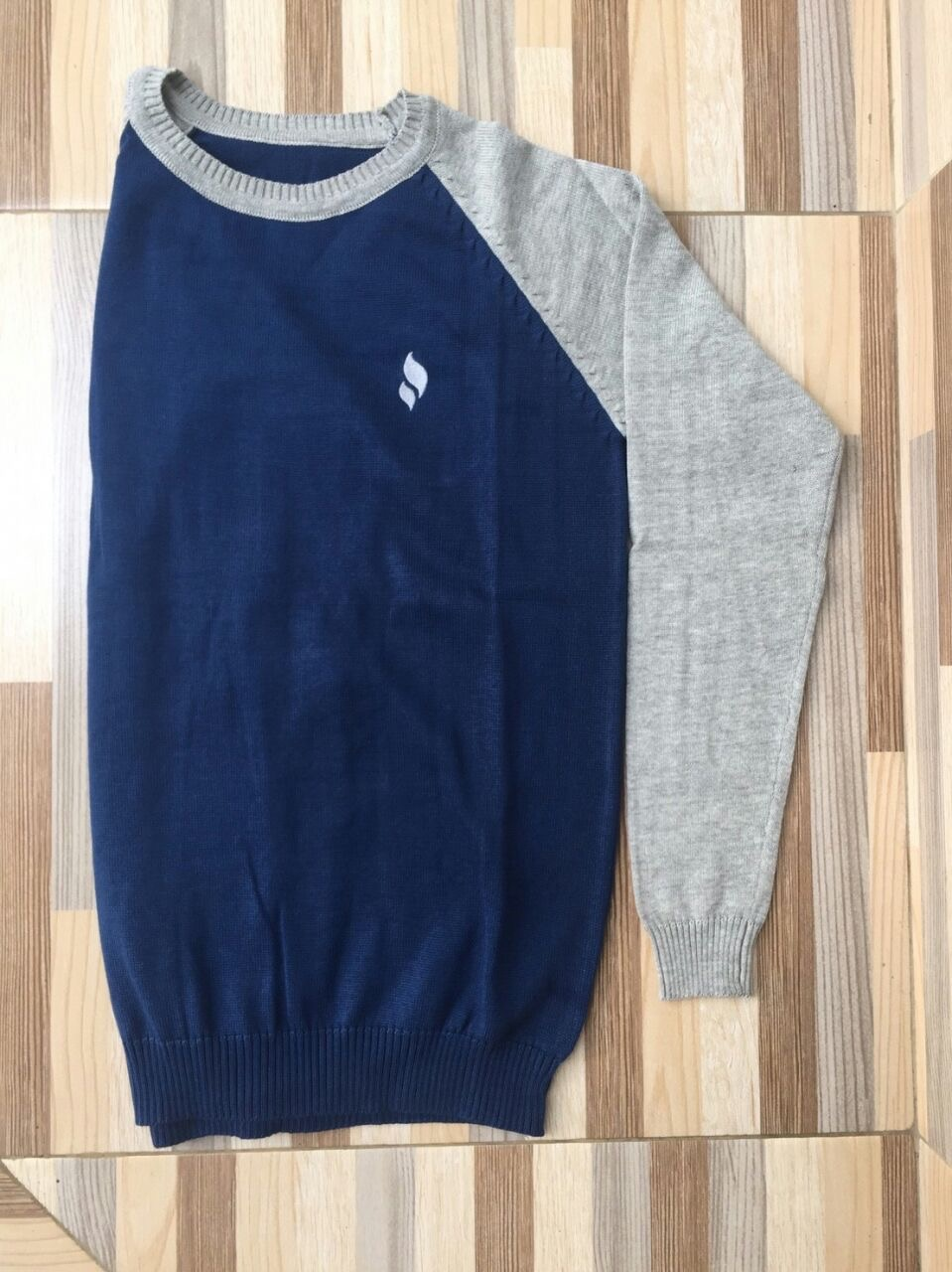 Sweater O-Neck Blue-Grey