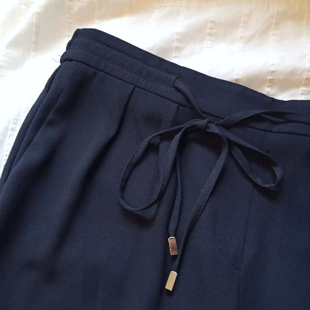 Zara navy blue trousers XS