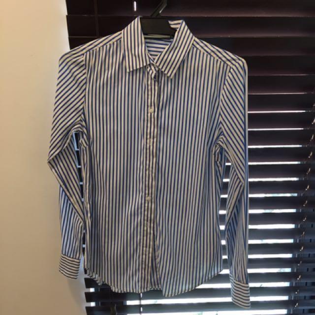 Zara working shirt in blue stripes