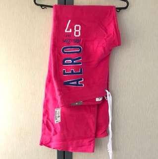 Brand New Aeropostale Hot Pink Sweatpants