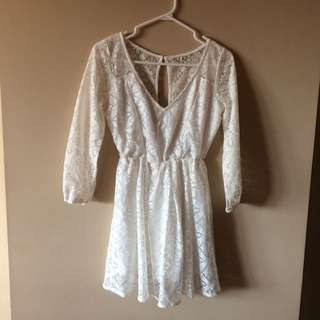 White Lace Hollister Dress