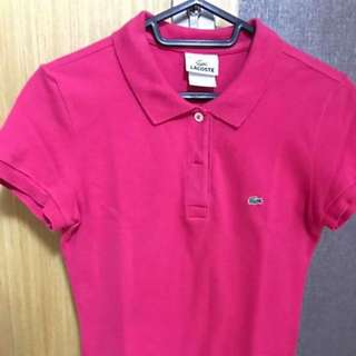 LACOSTE polo shirt size 34