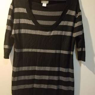 Black 3/4 blouse