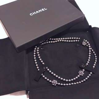 ❤️️Chanel black pearl long necklace 🎀💕