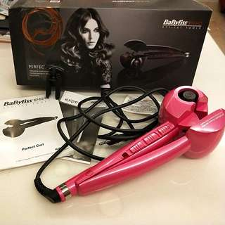 BABYBLISS PRO STYLING TOOL FOR PERFECT CURLS!!!  EFFORTLESSLY CREATE BEAUTIFUL CURLS!! MULTIPLE SETTINGS FOR DIFFERENT CURL EFFECTS!!  SIMPLE TO USE!!!  USED ONCE TO TEST THE CURL ONLY!! DARK PINK COLOUR!!!  KAWAII!!!!  HURRY WHILE STOCK LAST!!!