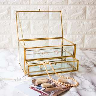 Belgard Vintage 2-Tier Jewelry Box (Gold)