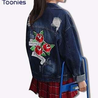 Fall/Spring Distressed Denim Jacket